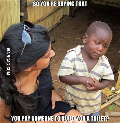Skeptical third world kid strikes again !