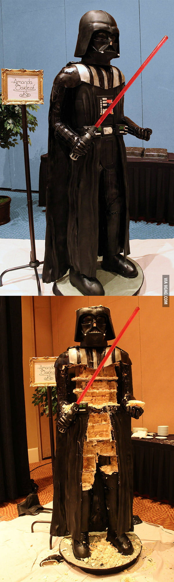 1:1 Darth Vader Cake: May the fork be with you!