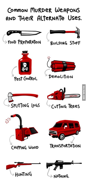 Murder weapons alternate use