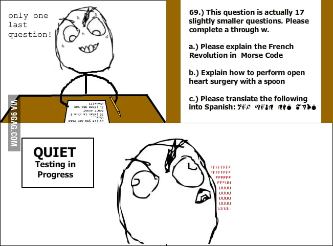 The last question rage
