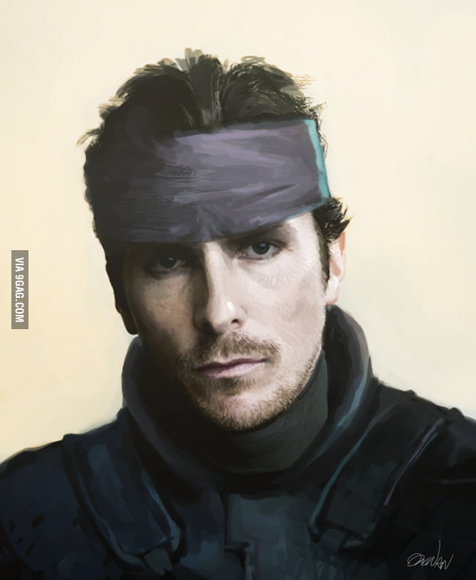 Christian Bale needs to play Snake in the Metal Gear Movie.