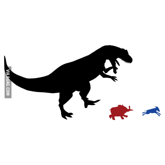 There should be a new political party using T-Rex as mascot.