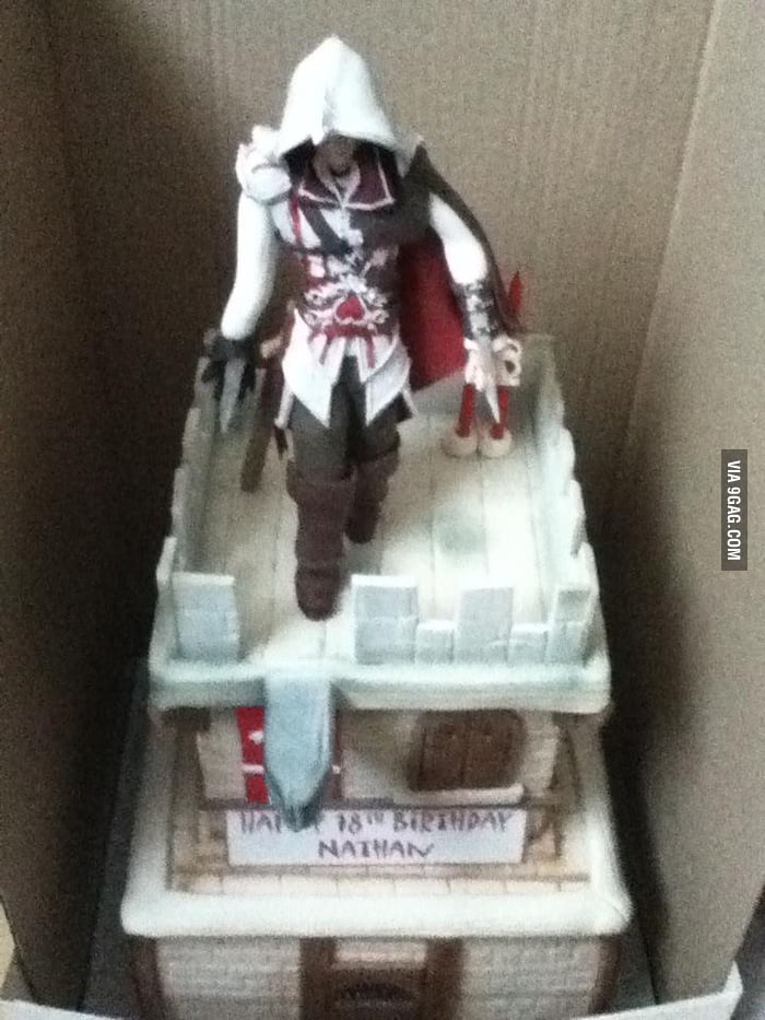 Awesome Assassin's Birthday Cake