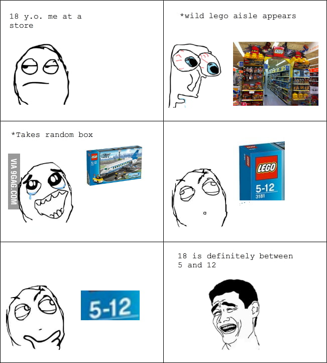 It's never too old for LEGO.