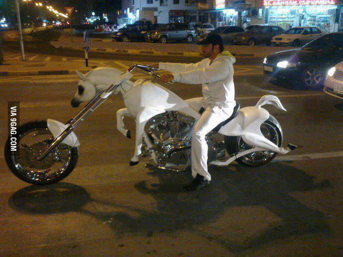 So I typed in motorcyclehorse on Google
