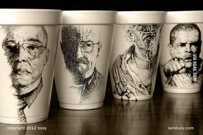 Awesome Sharpie Foam Cup Art