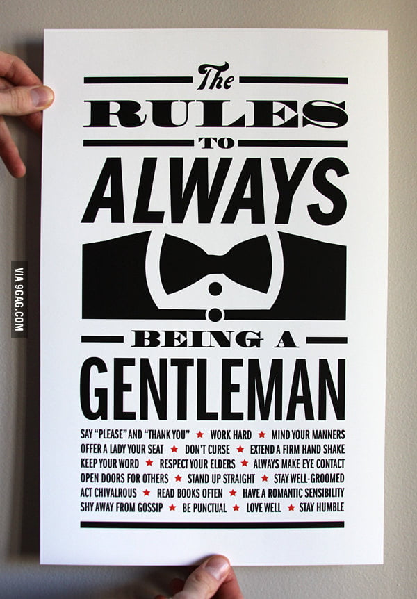 The Rules To Always Being A Gentleman