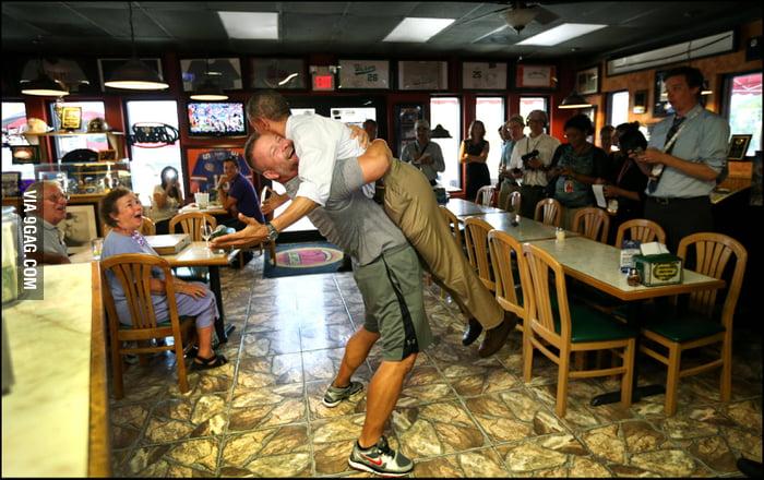 I want a president that I can hug, too.