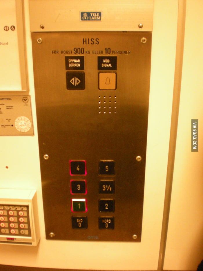 Just a regular elevator in Sweden