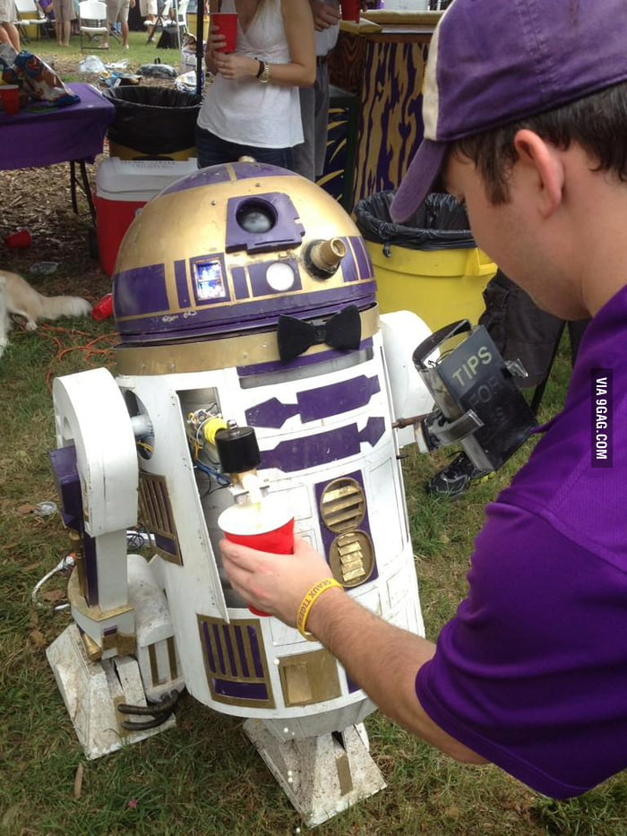 This is definitely the droid you are looking for: R2D2 Keg.