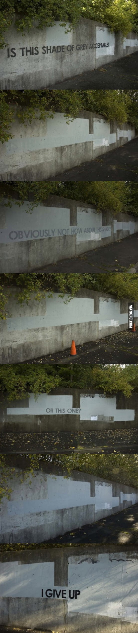 Graffiti Artist: Is this shade of grey acceptable?