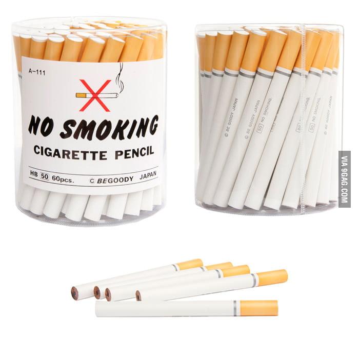 """No Smoking"" Cigarette Pencils"