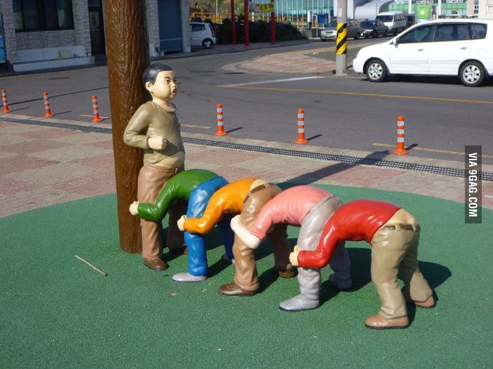 Some public art in Korea.