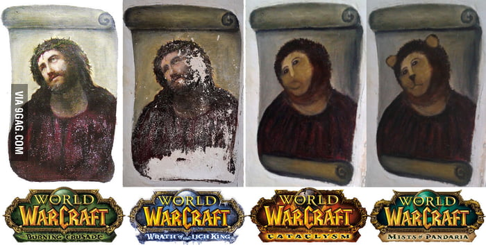 Progress of World of Warcraft expansions.