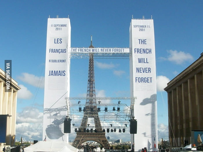 The French will never forget.