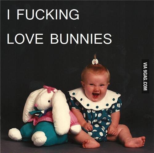 I f**king love bunnies.