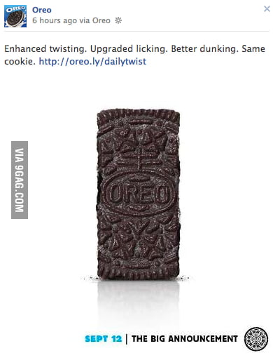 I see what you did there, Oreo...
