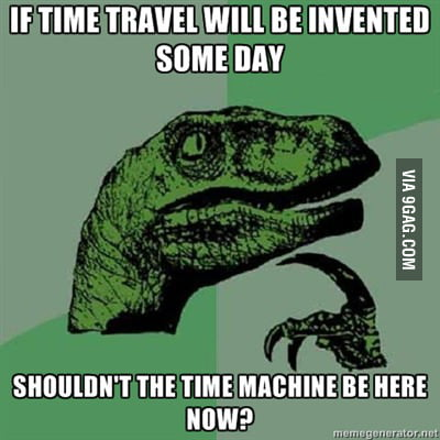 Velociraptor on time travel