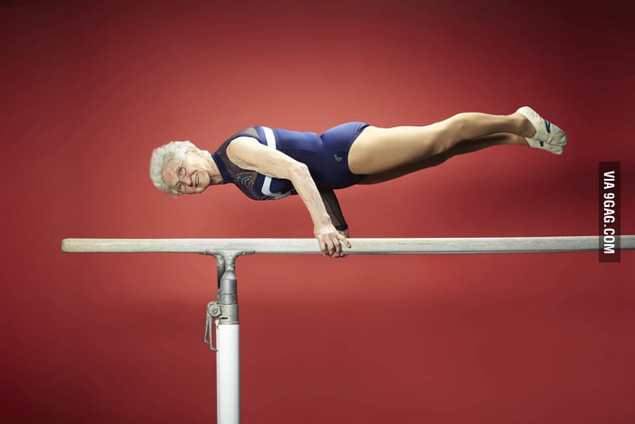 86-year-old Johanna Quaas, is the world's oldest gymnast.