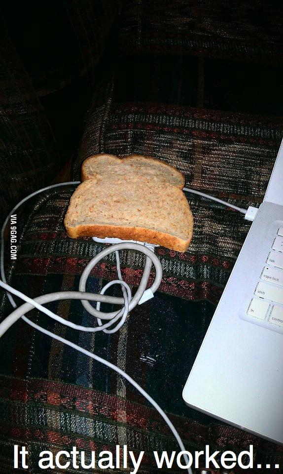 I'm toasting bread.