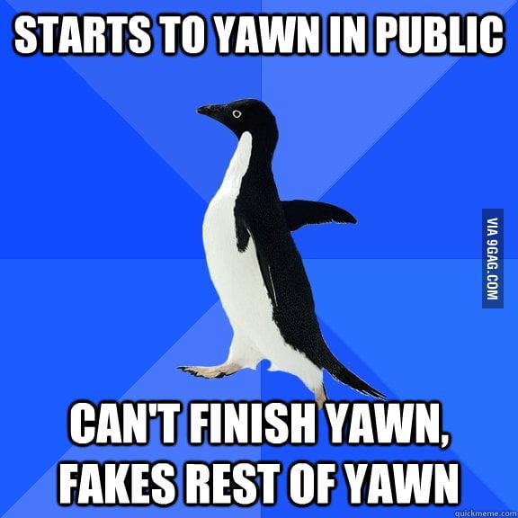 Fake Yawn