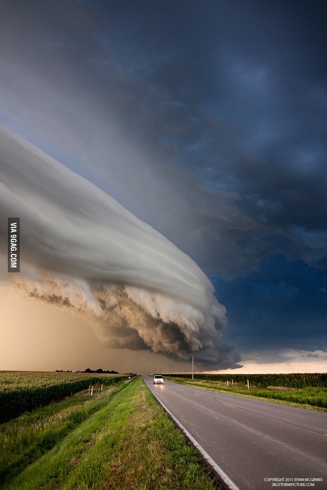 Amazing Cloud Formation caught in Nebraska