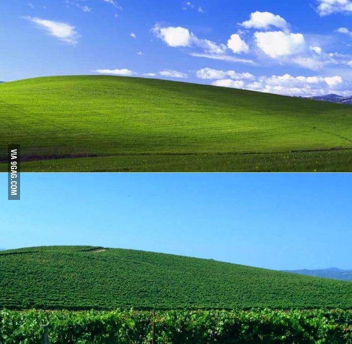 Windows desktop wallpaper in real life.