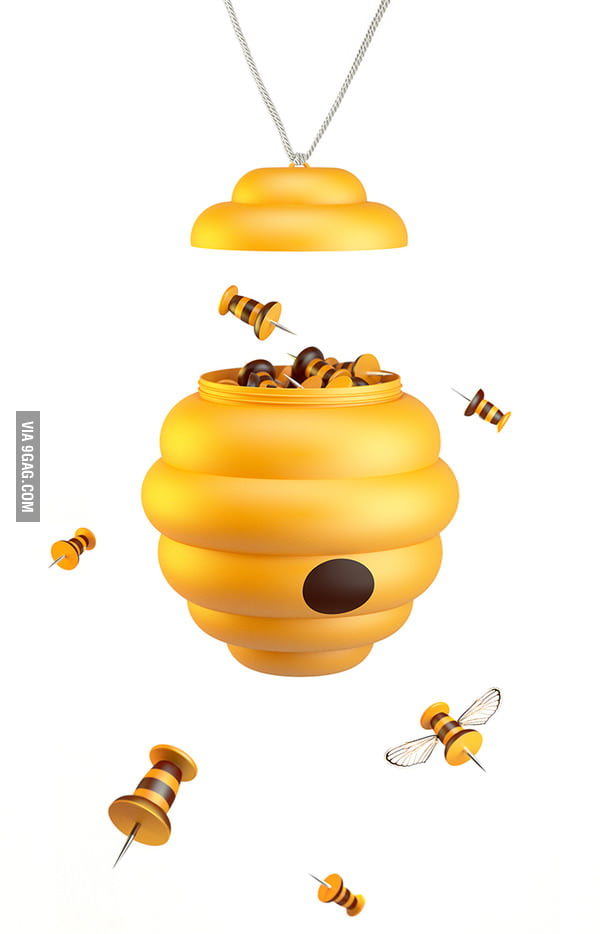Bee Pins and Honeycomb