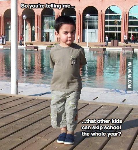 Sceptical 1st world kid