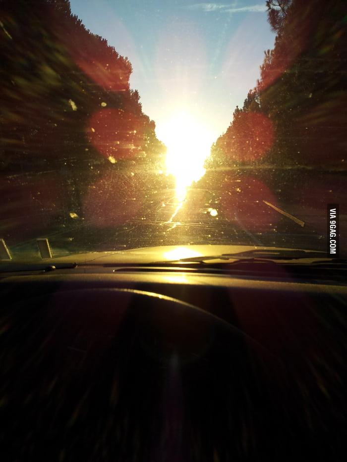 Sunshine is good but not when you are driving in the morning