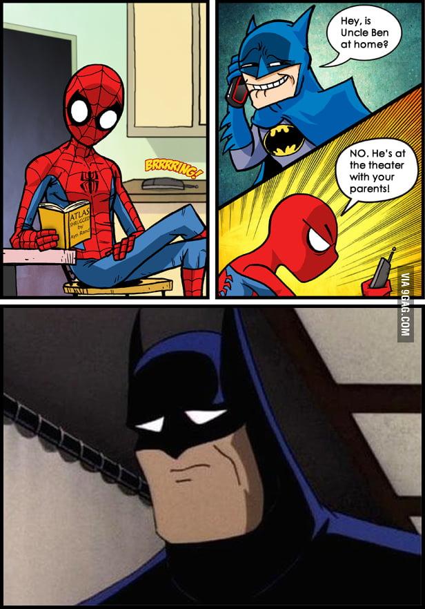 No joking around, Batman.