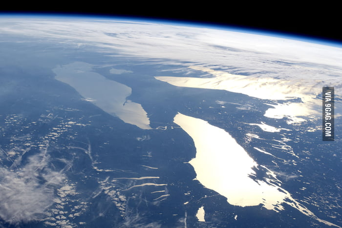 The Great Lakes from the space.