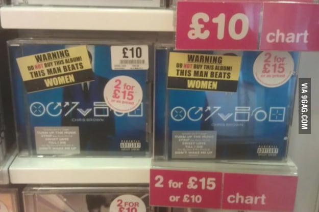 Chris Brown's Album in London Store