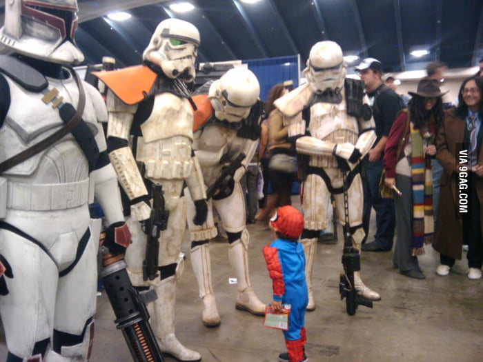 Little Spidey Vs The Stormtroopers