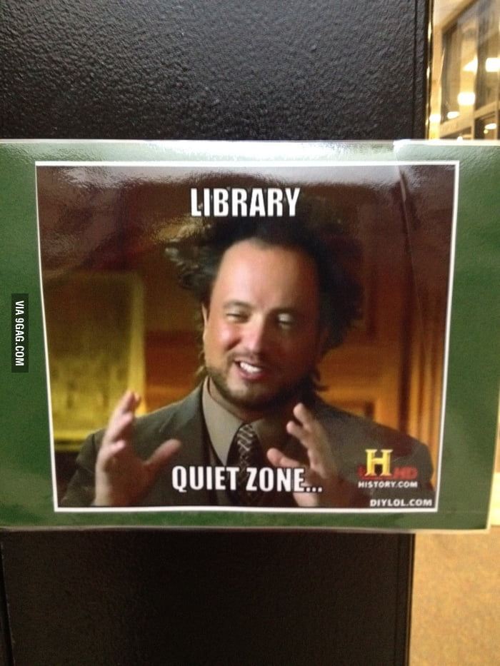 Obviously the library doesn't know how to use this meme.