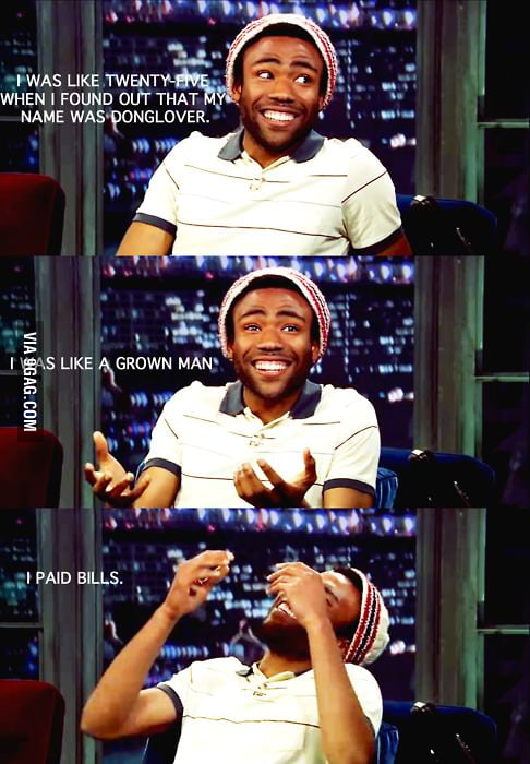 Donald Glover is a funny guy.