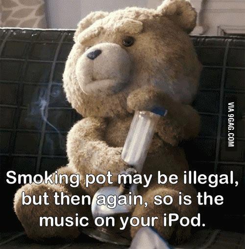 Smoking pot may be illegal