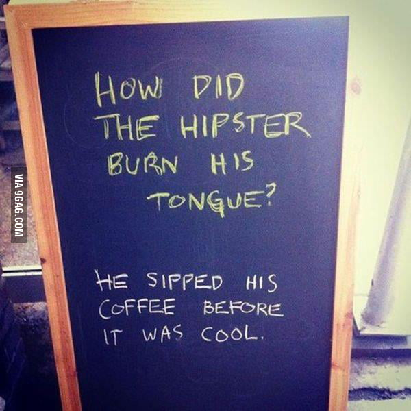 A coffe shop sign