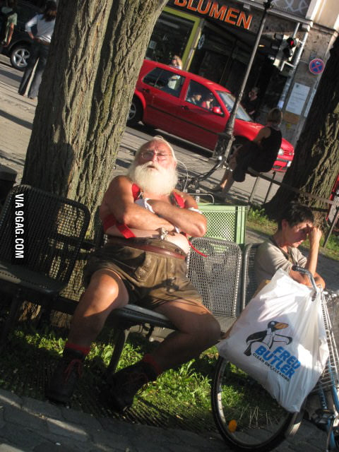 Saw Santa on summer vacation in Germany