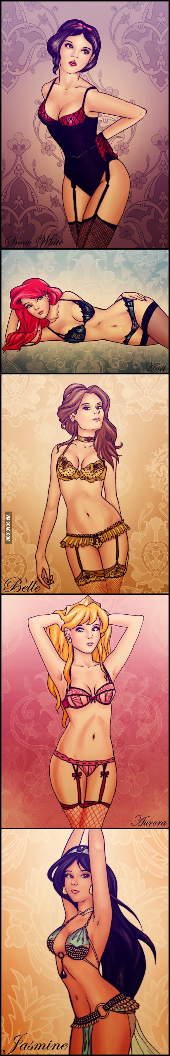 Disney Princesses in Lingerie