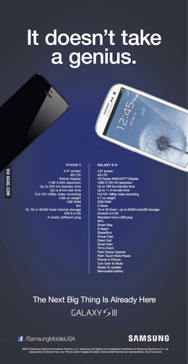 Iphone 5 vs samsung galaxy s3 9gag samsung galaxy s3 ccuart Choice Image