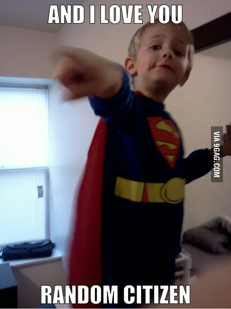 My 2 year old as Superman