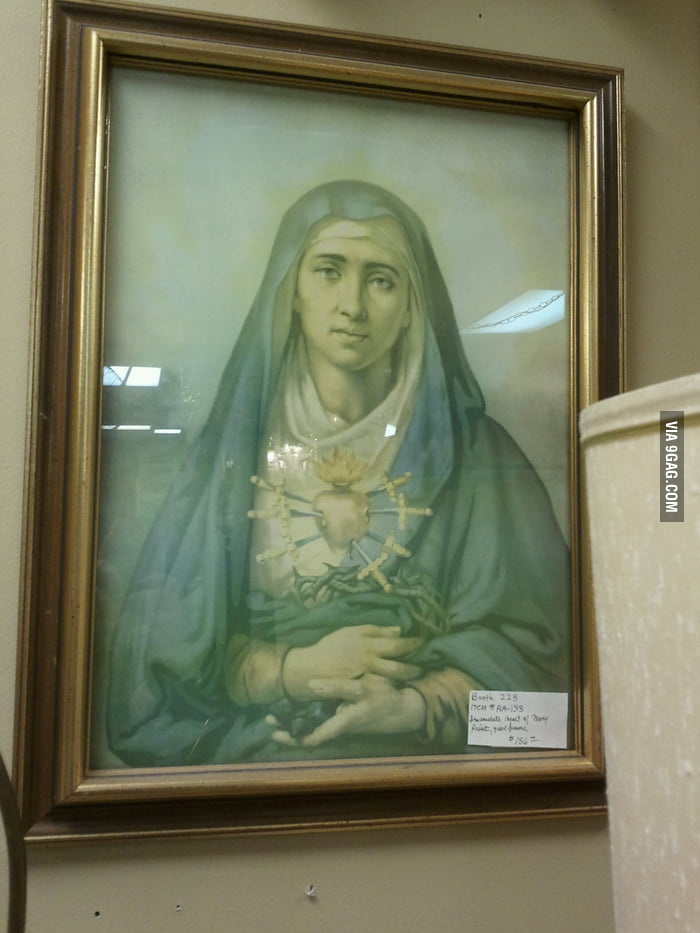 A painting of Nicholas Cage.