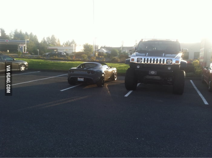 Double Douchebags in car park.