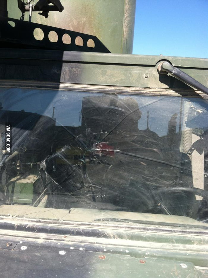 """There was a spider in the Humvee!"""