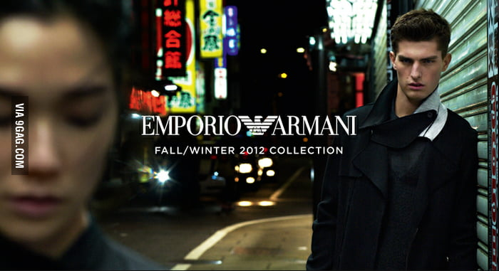 Armani. The fashion for stalkers.