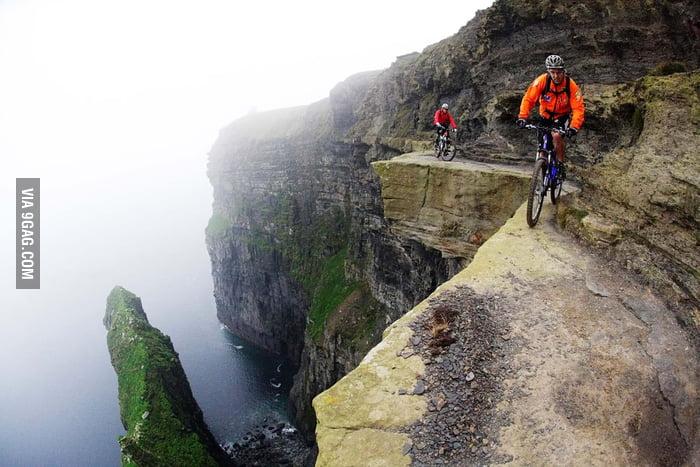 Mountain biking with the Death.