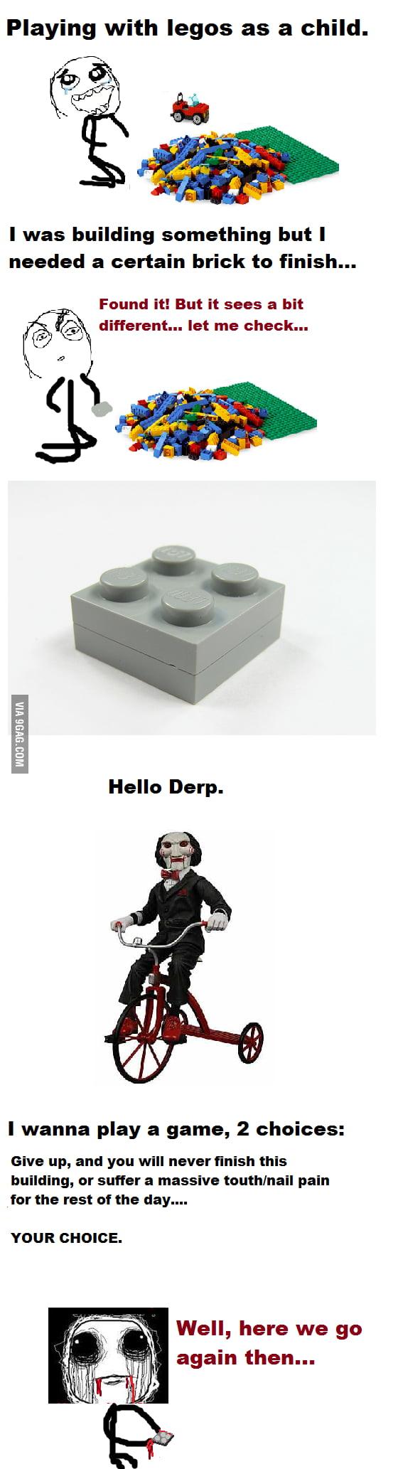 Childhood Lego Rage