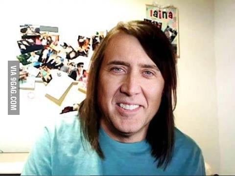 Overly attached Nicolas Cage.