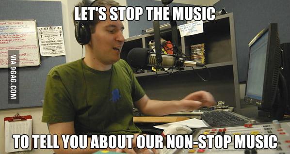 Non-stop music